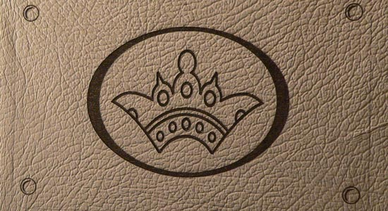 engraving leather branding