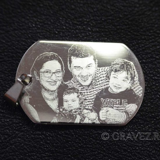 Fotografie de familie gravata pe pandantiv de inox