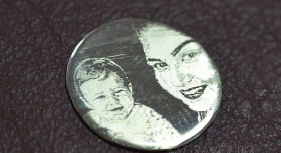 fotogravura pe banut de argint