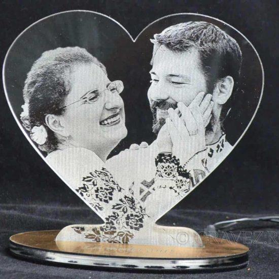fotogravura cadou de nunta in acril