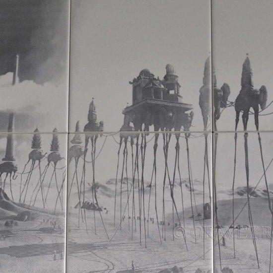 fotogravura in ceramica speciala de mari dimensiuni 60x40cm