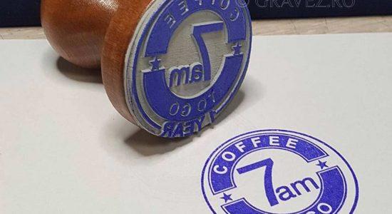 stampila branding cafenea din cauciuc