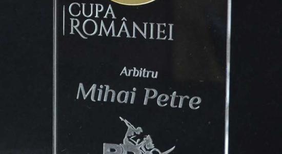 trofeu acril si metalex Cupa Romaniei