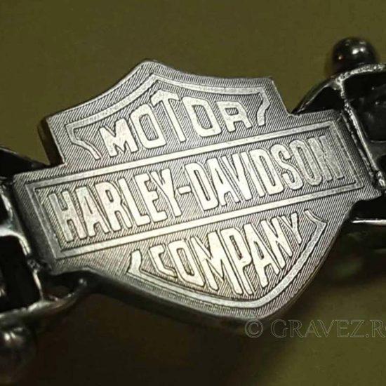 Gravura pe bratara de argint Harley Davidson