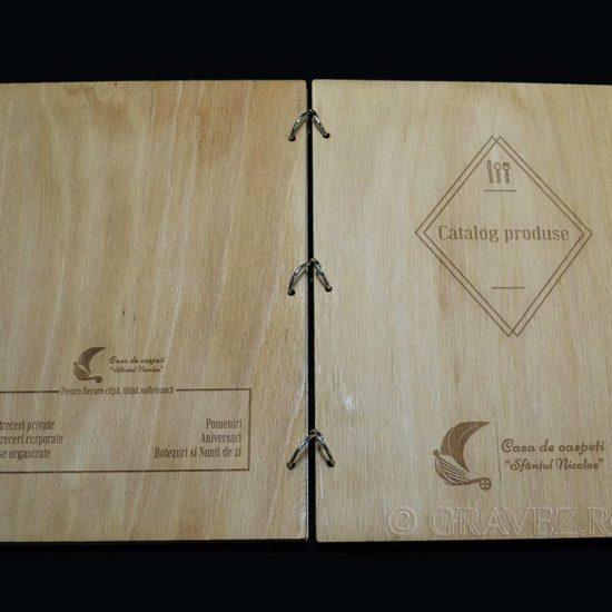 coperti menu din lemn