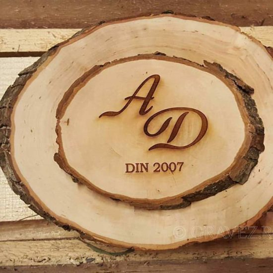 felii trunchi lemn cadou nunta
