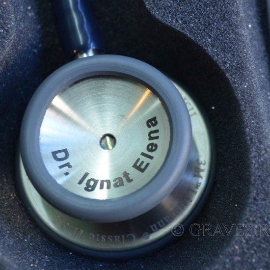 marcare laser pe stetoscop