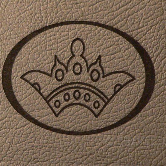Piele gravată cu logo firmă