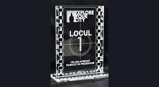 trofeu acril transparent
