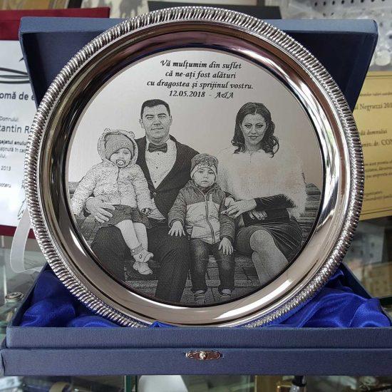 fotogravura laser cadou familie