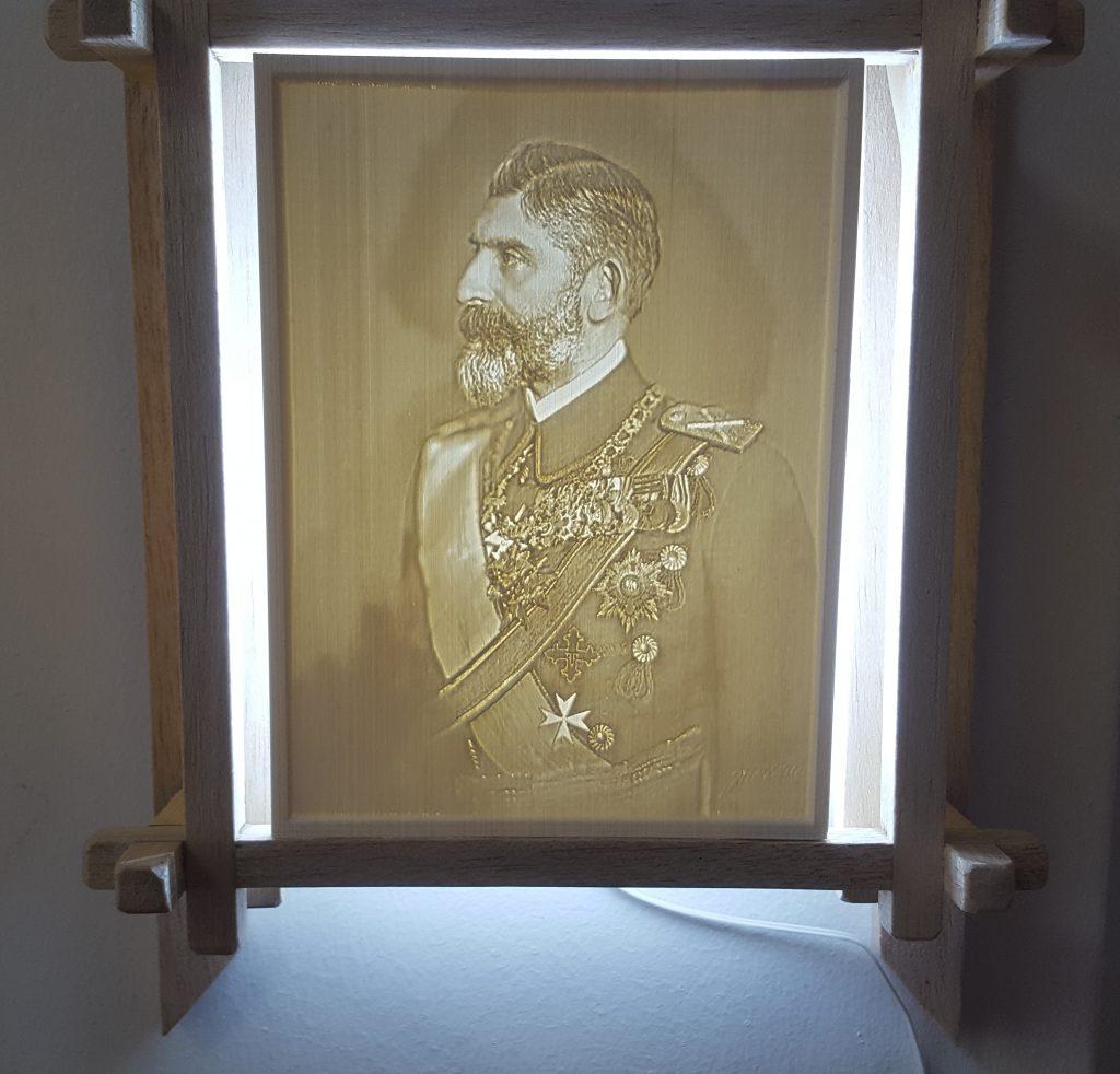 lithophane 3D Regele Ferdinand