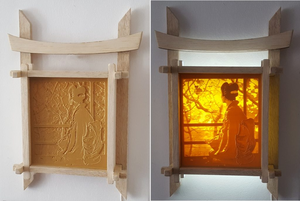Lampa japoneza 3D